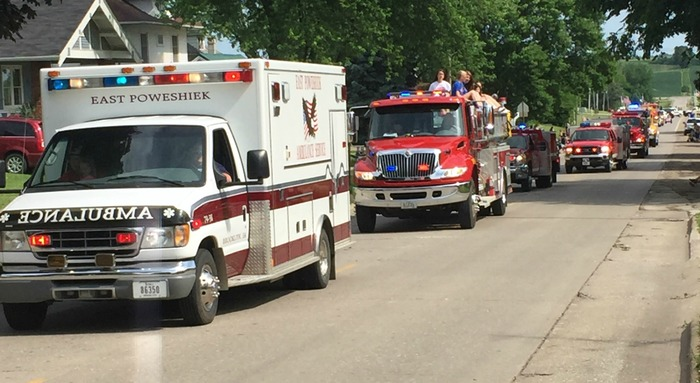 Ambulance at Flag Day Parade